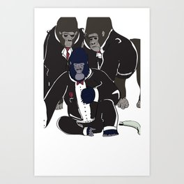 Gorilla Warfare Art Print