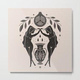Persephone - Black Metal Print