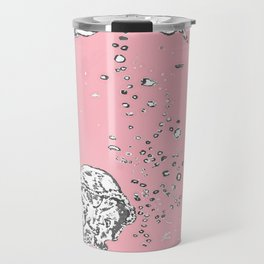 Two Tailed Duck and Jellyfish Baby Pink Deep Travel Mug