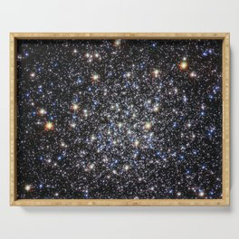Hubble Space Telescope - Cluster's deceptive serenity hides violent past Serving Tray
