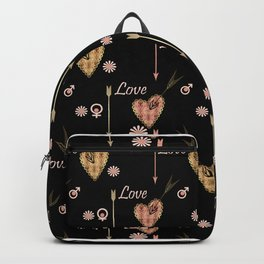 Broken hearts. Love . Backpack