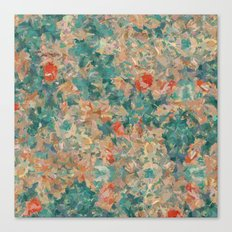 Study in Teal and Peach Canvas Print