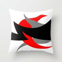 Something Abstract #1-2 Throw Pillow