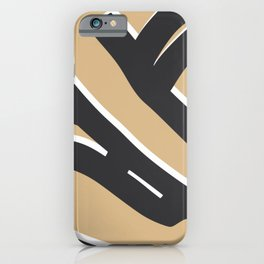 Bold sitting nude abstract pose iPhone Case