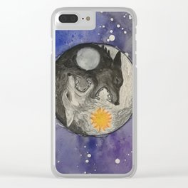 Skoll and Hati Clear iPhone Case