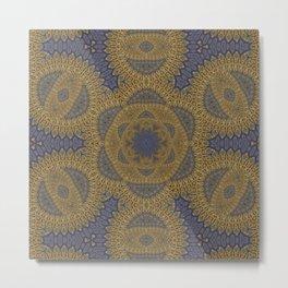 Goldblue Mandalic Pattern 4 Metal Print