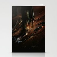 smaug Stationery Cards featuring The Desolation of Smaug by Artechniq