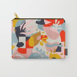 Abstraction in Amalfi / Mid-Century Colorful Shapes Carry-All Pouch