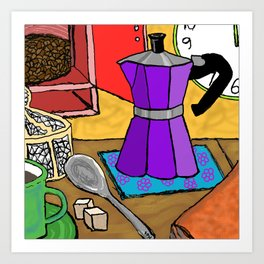 Moka Pot Joy Art Print