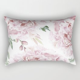 Beautiful Pink Roses Garden Rectangular Pillow