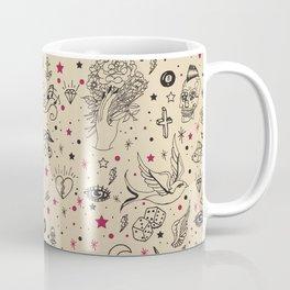 Hand Drawn Flash Tattoos Coffee Mug