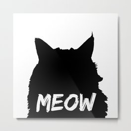 Meow Cat Metal Print