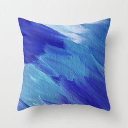 Deepest blues Throw Pillow