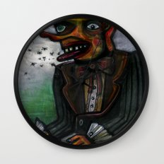The Eye in the Ointment Wall Clock