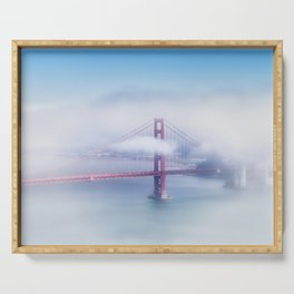 Foggy Golden Gate Bridge Serving Tray
