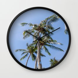 Palm Trees in the Midday Sun Wall Clock