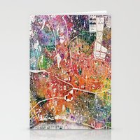 london map Stationery Cards featuring London map  by mark ashkenazi