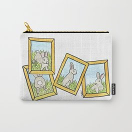 Bunny in frames Carry-All Pouch