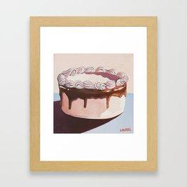 Caramel Cake Framed Art Print