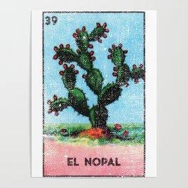 El Nopal Mexican Loteria Bingo Card Poster