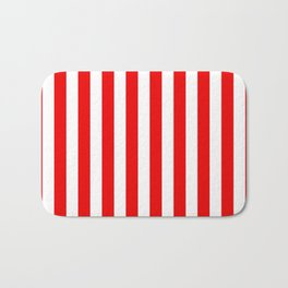 Holidaze Stripe Red White Vertical Bath Mat