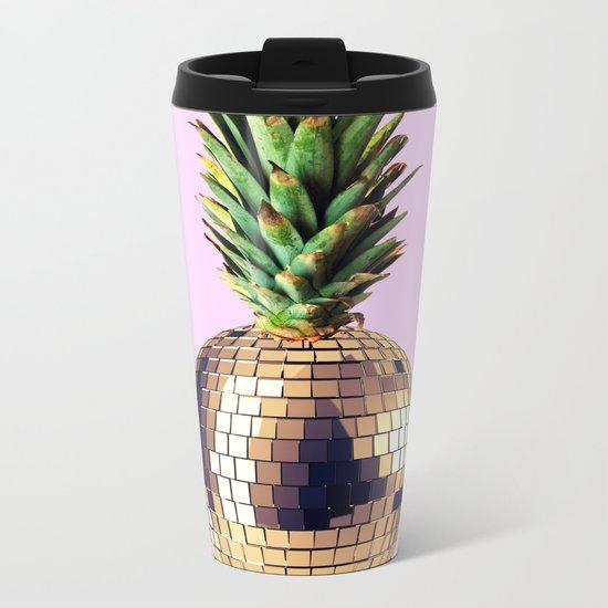 Ananas party (pineapple) Pink version Metal Travel Mug