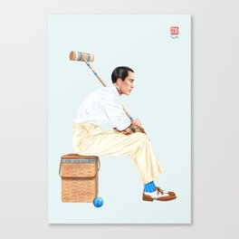 Croquet and Ink Ten Canvas Print