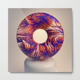 Floral Transparency Metal Print