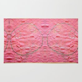 Smile on a pink toilet paper Rug