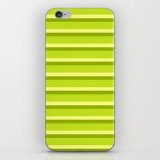 Lime Green Stripes iPhone & iPod Skin