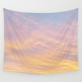 Blue Rose Yellow Sunrise Wall Tapestry