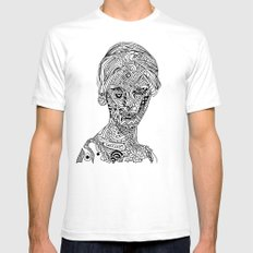 Space Goddess Mens Fitted Tee White SMALL