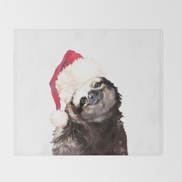Christmas Sloth Throw Blanket