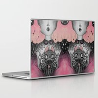 black cat Laptop & iPad Skins featuring Black Cat by lOll3