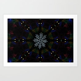 Continuous Christmas Lights Art Print