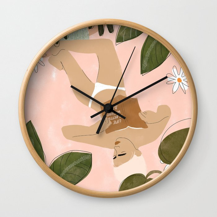 Life Is Better Without Bra Wall Clock