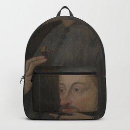Vintage Geoffrey Chaucer Portrait Painting Backpack