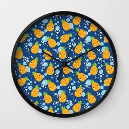 Funny Pineapples 5 Wall Clock