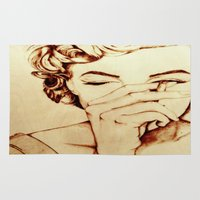 monroe Area & Throw Rugs featuring Marilyn Monroe  by Farinaz K.