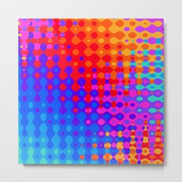 Hippy Trippy Pattern Metal Print