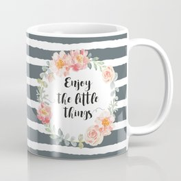 Wreath peony and rose with quote. Coffee Mug