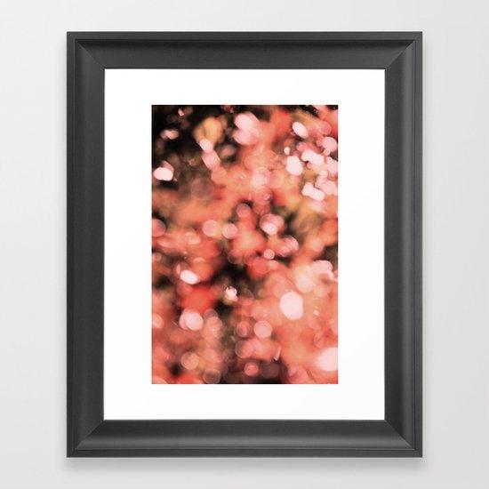 Bokeh Bubbly Framed Art Print