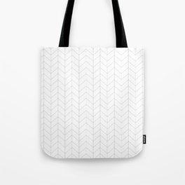 Herringbone Black and White Tote Bag