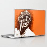 stevie nicks Laptop & iPad Skins featuring Stevie Wonder by ChrisGreavesArt