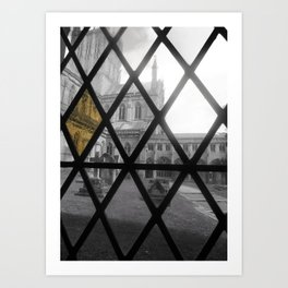 Stain glass window (church)  Art Print