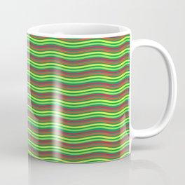 Digital Art Waves Multicolored Coffee Mug