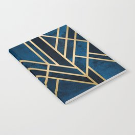 Art Deco Midnight Notebook