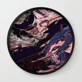 Inside a purple marble Wall Clock