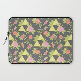 Garden of Power, Wisdom, and Courage Pattern in Grey Laptop Sleeve
