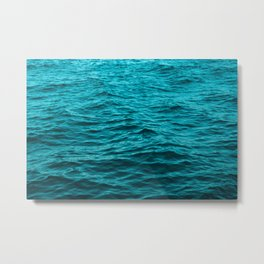 water surface, ocean wave photo - landscape photography Metal Print